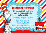 Dr. Seuss Birthday Party Invitation (#KBI109) - StorkBabyGiftBaskets
