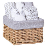 Safari Gray 7 Piece Feeding Gift Basket