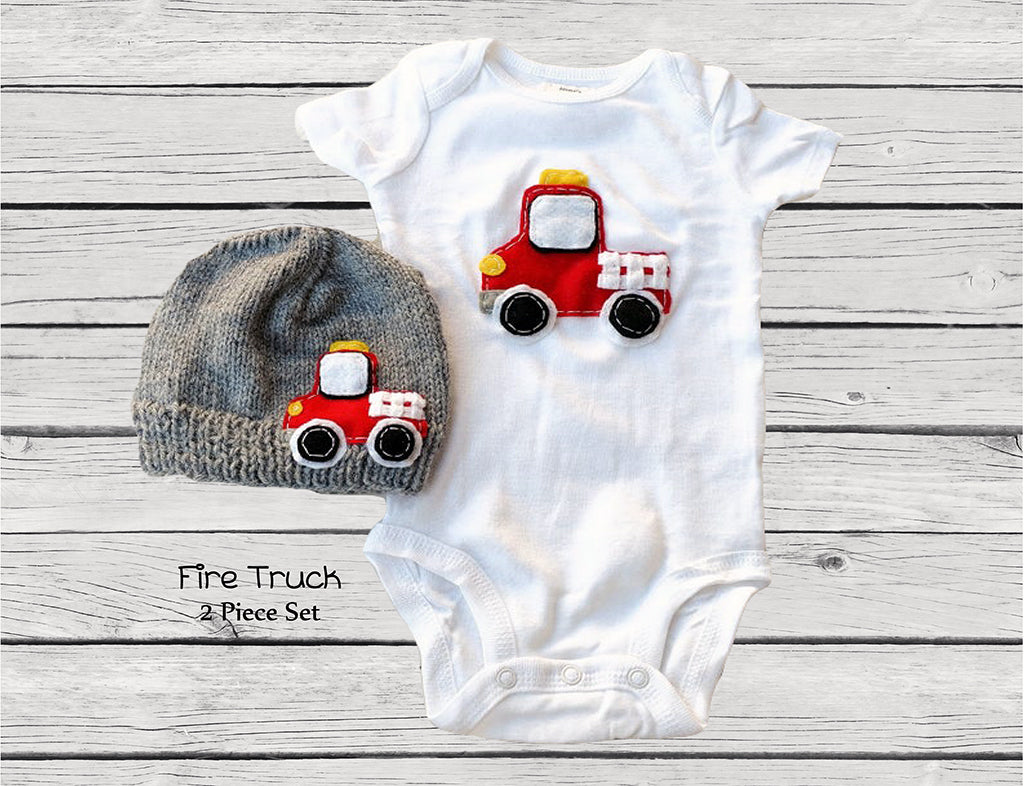 Little Red Fire Truck Gift Set