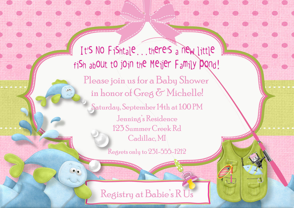 Fishing Baby Shower Invitation - Fish Tales