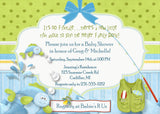 Fish Tales Baby Shower Invitation (#SBGB79) - StorkBabyGiftBaskets