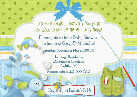 Giraffe Boy Baby Shower Invitation