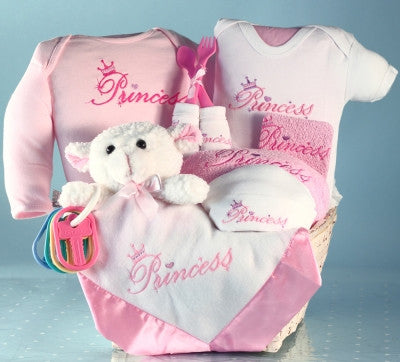 Twin Boys Puppy Gift Basket (#BGC191)