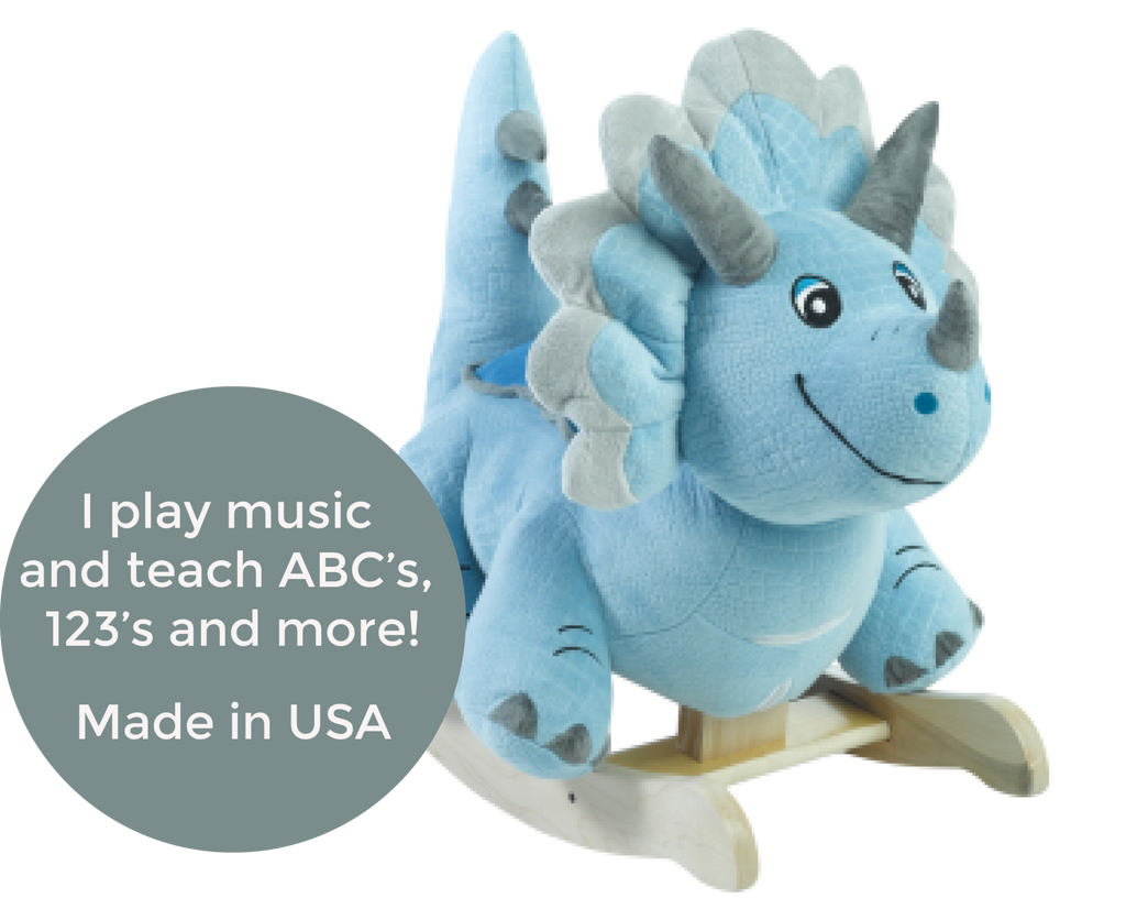 Fossil The Dinosaur Rocker (#RB29) - StorkBabyGiftBaskets - 2