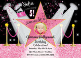 Glamour Girl Photo Birthday Invitation