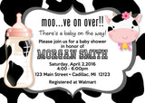 Country Cow Baby Shower Invitation (#SBGB70) - StorkBabyGiftBaskets - 2