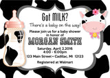 Country Cow Baby Shower Invitation (#SBGB70) - StorkBabyGiftBaskets - 1