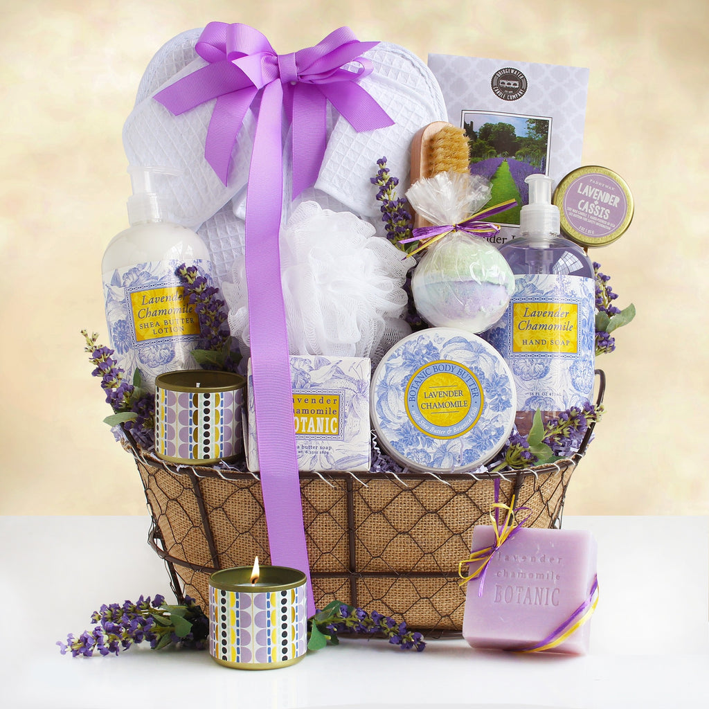 Luxurious Lavender Relax New Mommy Gift Basket (#GC30)
