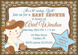 Lil' Cowboy Baby Shower Invitation (#SBGB90) - StorkBabyGiftBaskets - 1