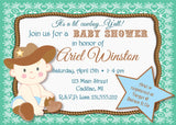 Lil' Cowboy Baby Shower Invitation (#SBGB90) - StorkBabyGiftBaskets - 3