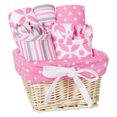 Lily 7 Piece Feeding Gift Basket (#TL200) - Stork Baby Gift Baskets - 1