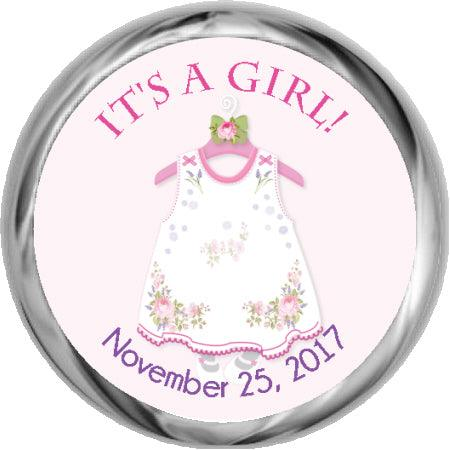 Little Dress - Baby Shower Sticker