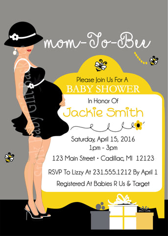 Country Cow Baby Shower Invite (#DIY70)