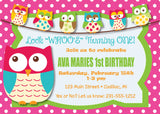 Owl - 1st Birthday Invitation