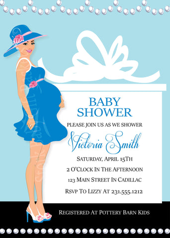 Safari Baby Shower Invitation (#SBGB99)