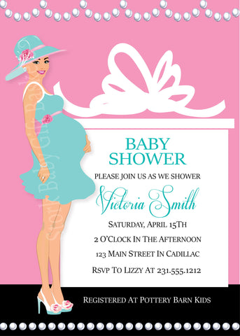 Southern Belle Baby Shower Invitation (Girl) (#SBGB115)
