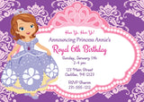 Princess Sofia - Personalized Princess Party Invitations
