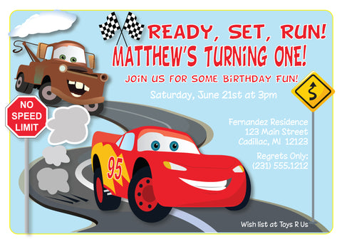 Bowling - Boys Bowling Birthday Invitation (#KBI118)