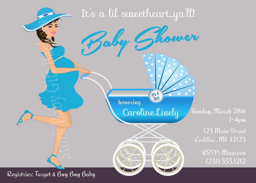 Baby Shower Invitations Stork Baby Gift Baskets