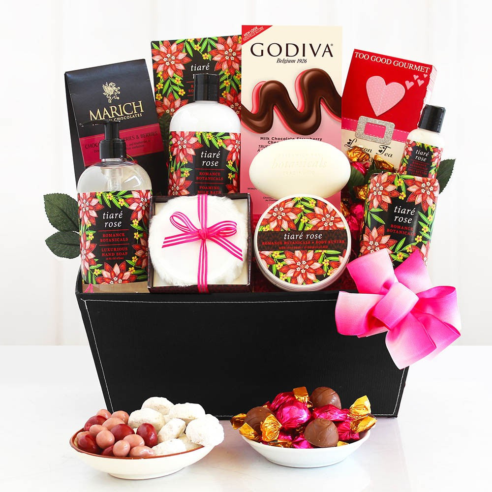 TIARE ROSE SPA ROMANTIC GIFT BASKET For Her (GC5759)