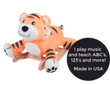 Tiggy Tiger Plush Rocker (#RB46) - StorkBabyGiftBaskets - 2