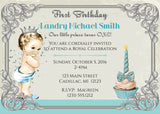 Vintage Prince 1st Birthday Invitation (#KBI119) - Stork Baby Gift Baskets