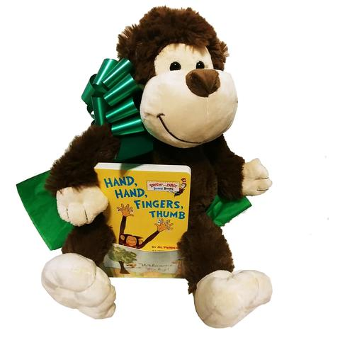 Cheeky Monkey Baby Book Gift Box