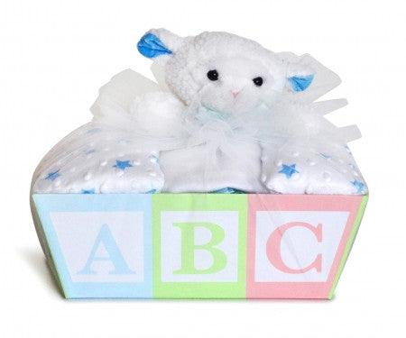 BABY BLANKET & LAMB LOVEY Baskets (#BGC318) - Stork Baby Gift Baskets - 2