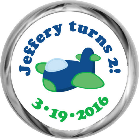Green Truck - Toddler Boy's HERSHEY KISSES Stickers (#HKS309)