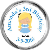 Alice in Wonderland - HERSHEY KISSES Birthday Stickers (#HKS314) - StorkBabyGiftBaskets