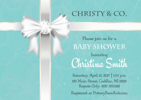 Modern Mini Mouse Girl Baby Shower Invitations (#SBGB124)