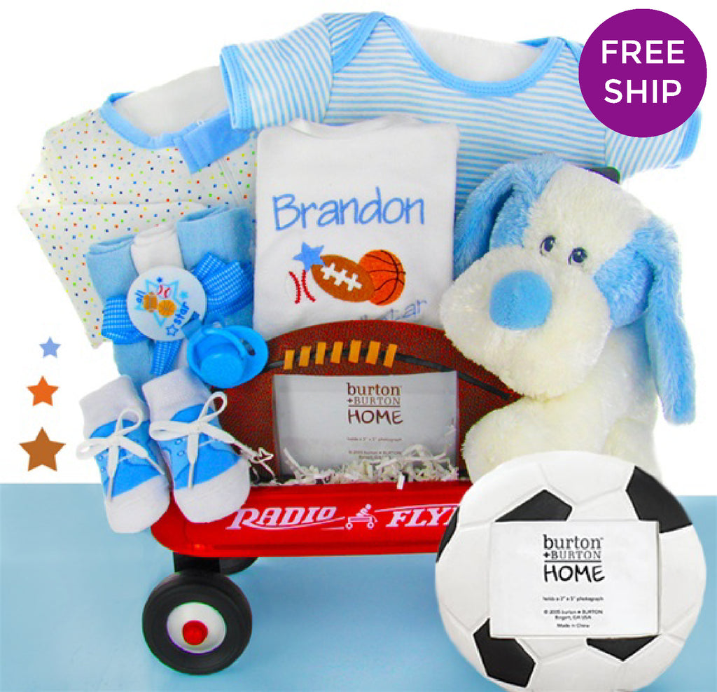 All Star Baby Boy Gift Wagon
