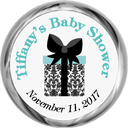 Baby Boy Owl Stickers - KISSES Candy Baby Shower (#HKS12)