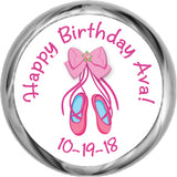 Ballerina Slippers - Birthday Hershey Kisses Stickers