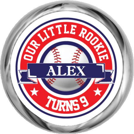 Baseball Birthday - Personalized Hershey Kisses Stickers