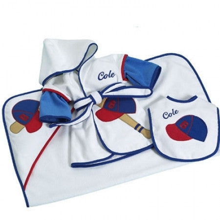 Baseball Sports Layette Ensemble (#BGC30) - Stork Baby Gift Baskets