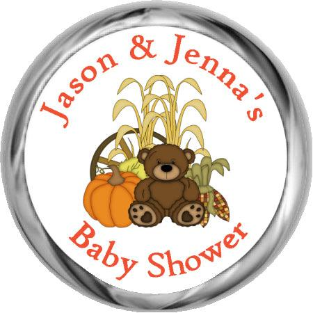 Bun In The Oven Stickers - Baby Boy Shower Kisses  (#HKS04)