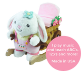 Beatrice Bunny Rocking Toy (#RB3) - StorkBabyGiftBaskets - 3