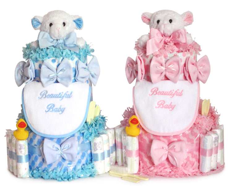 Beautiful Baby Diaper Cake (Pink or Blue)