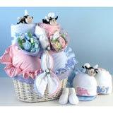 Little Busy Bees Twins Baby Basket (#BGC109) - StorkBabyGiftBaskets