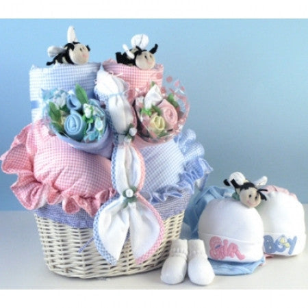 Hush Little Newborn Girl Gift Basket (#BBC194)