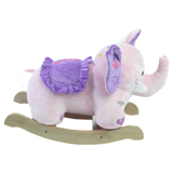 Bella Elephant Musical Rocker for Baby Girl (#RB4) - StorkBabyGiftBaskets - 3