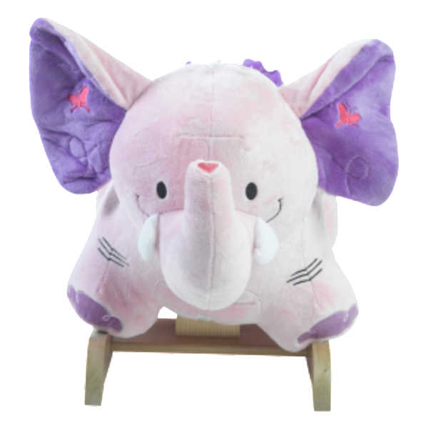 Bella Elephant Musical Rocker for Baby Girl (#RB4) - StorkBabyGiftBaskets - 4