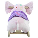 Bella Elephant Musical Rocker for Baby Girl (#RB4) - StorkBabyGiftBaskets - 5