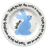 Spring Celebrations Bunny Plate - Blue (#LWC-136b)
