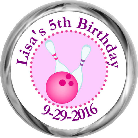 Birthday Octopus - Girl's Personalized HERSHEY'S Stickers (#HKS325)