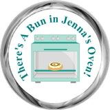 Bun In The Oven Stickers - Baby Boy Shower Kisses  (#HKS04) - StorkBabyGiftBaskets - 1