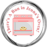 Bun In The Oven Stickers - Baby Girl Shower Kisses (#HKS06) - StorkBabyGiftBaskets - 1