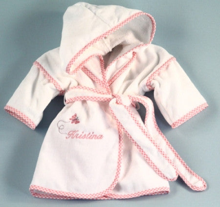 Child's Flower Hooded Robe (Can be personalized) (#BGC314)