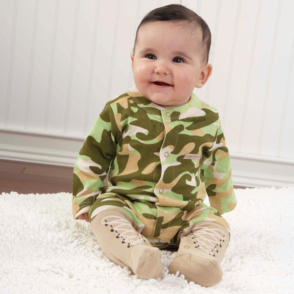 Personalized Baby Boy Camo Layette Ensemble (#BA12) - StorkBabyGiftBaskets - 4